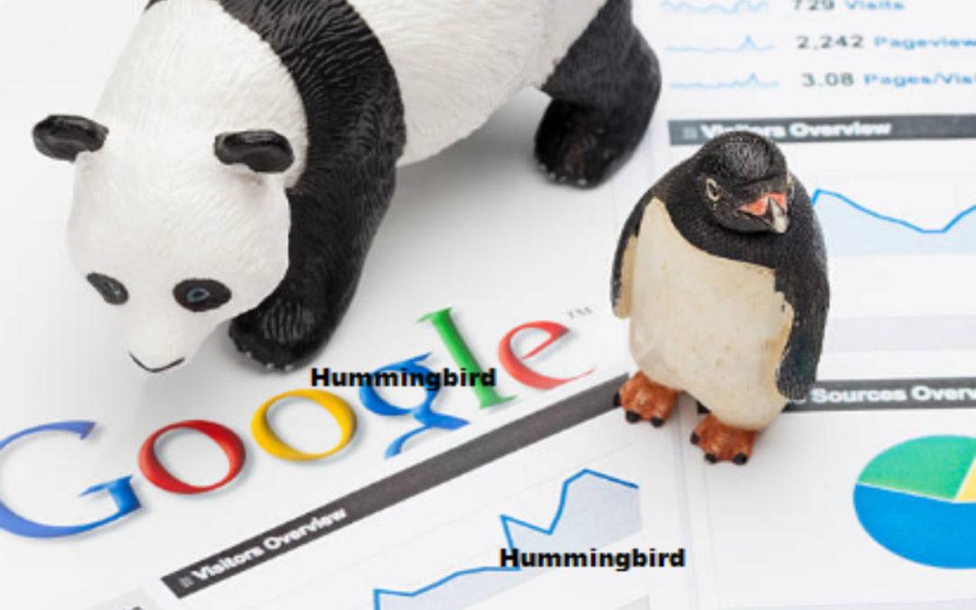 Google Panda, Penguin y Hummingbird, tres algoritmos SEO